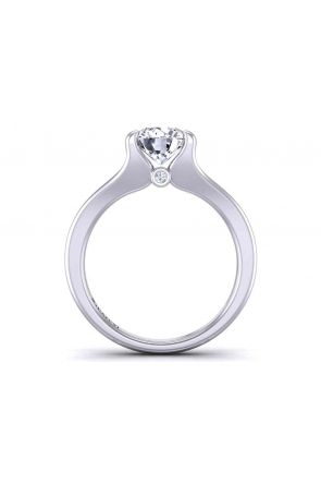 Minimalist solitaire modern engagement 2.8mm ring 1070SOL-A 1070SOL-A