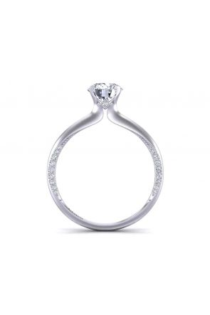 Modern petite solitaire swan inspired engagement 2mm ring 1176SOL-A 1176SOL-A