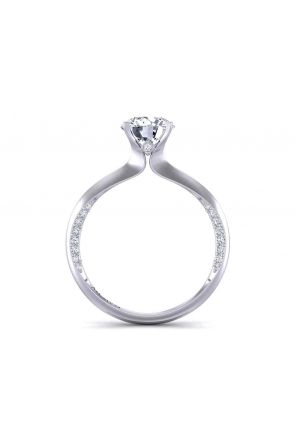 Contemporary solitaire designer engagement 1.7mm ring 1176SOL-B 1176SOL-B