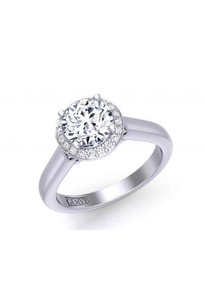Exquisite 4-prong solitaire 3-stone engagement 2.6mm ring 1200SOL-A 1200SOL-A