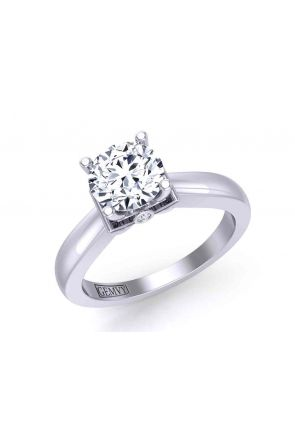 Artisan solitaire 3-stone engagement 2.9mm ring 1200SOL-D 1200SOL-D