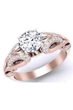 """Butterfly Princess""-Art Nouveau Diamond ring 1241 - Rose Gold 12411 color Rose Gold"
