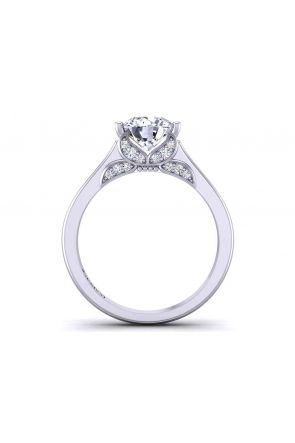 Butterfly inspired custom solitaire  4-prong 3mm ring 1263SOL-A 1263SOL-A