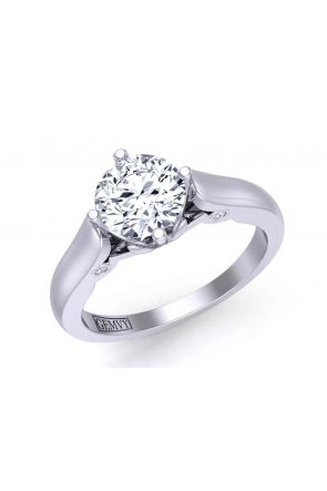 One-of-a-kind solitaire custom  2.3mm ring 1437SOL-A 1437SOL-A