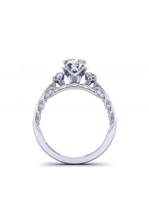 Channel set petite band round 3-stone 2.1mm artistic ring 1509-3D 1509-3D