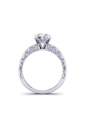Channel set modern  unique vine inspired 2.7mm diamond ring 1509S-D 1509S-D