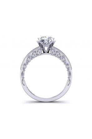 Split band vintage  style Pavé milgrain 2.6mm diamond ring 1509S-F 1509S-F