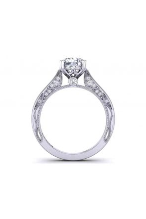 Round diamond gallery one-of-a-kind solitaire 3mm engagement ring 1529SOL-A 1529SOL-A