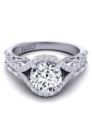 Pave Engagement Ring AUTM-1317H-BH AUTM-1317H-BH
