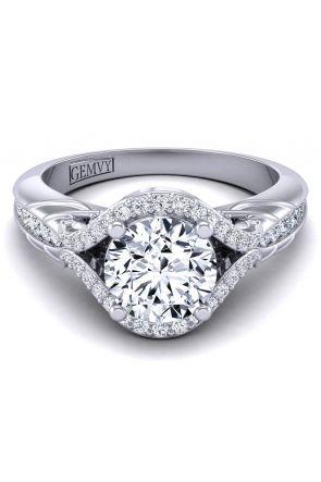 Pave Engagement Ring AUTM-1317H-LH AUTM-1317H-LH
