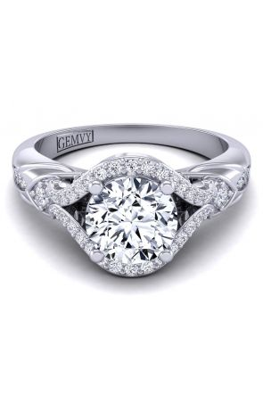 Pave Engagement Ring AUTM-1317H-NH AUTM-1317H-NH