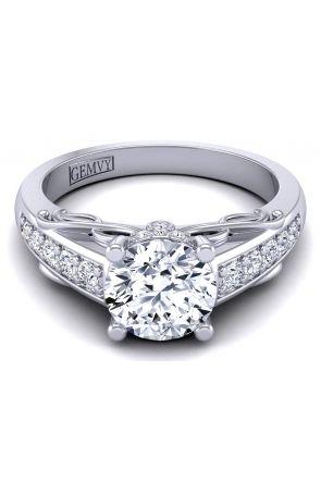 Pave Engagement Ring AUTM-1317S-BS AUTM-1317S-BS