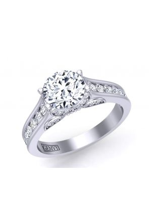 Butterfly inspired channel set diamond engagement ring BUTTERFLY-1263-A BUTTERFLY-1263-A