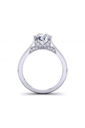 Butterfly inspired 2-row pavé custom designed diamond ring BUTTERFLY-1263-C BUTTERFLY-1263-C
