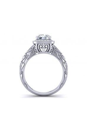 Pave Engagement Ring HEIR-1129-D HEIR-1129-D