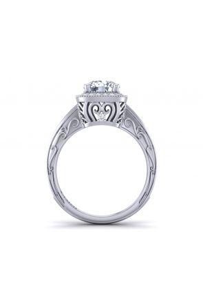 Pave Engagement Ring HEIR-1129-F HEIR-1129-F