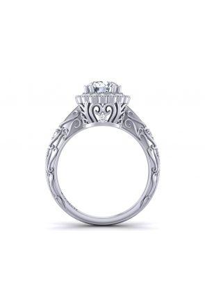 Pave Engagement Ring HEIR-1129-G HEIR-1129-G