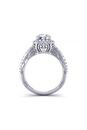 Pave Engagement Ring HEIR-1129-K HEIR-1129-K