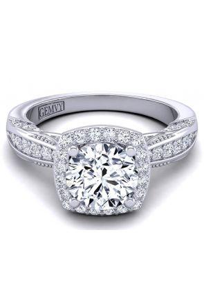 Edwardian style vintage halo engagement ring HEIR-1140-B HEIR-1140-B