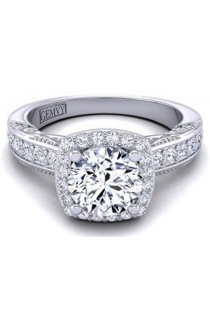 Pave Engagement Ring HEIR-1140-E HEIR-1140-E