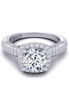 Two row surface pavé bold vintage ring HEIR-1140-F HEIR-1140-F