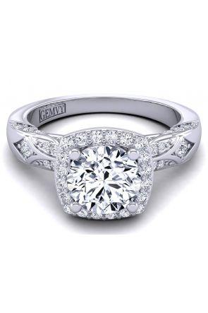 Artistic detailed halo diamond engagement ring HEIR-1140-H HEIR-1140-H