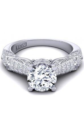 princess cut channel set engagement ring HEIR-1140S-KS HEIR-1140S-KS