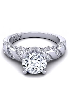 Rare victorian style halo engagement ring HEIR-1140S-LS HEIR-1140S-LS