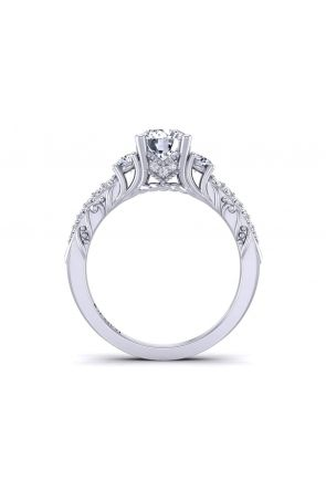 Unique filigree vintage style 3-stone diamond engagement ring HEIR-1345-3A HEIR-1345-3A