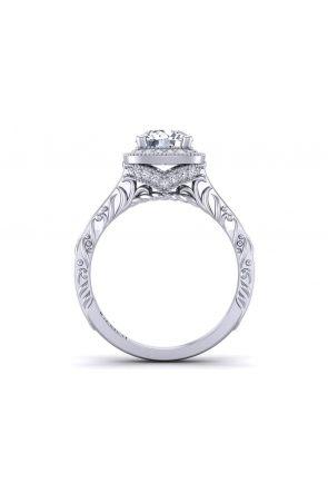 Art Deco Style halo diamond engagement ring HEIR-1345-HE HEIR-1345-HE