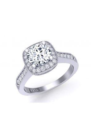 Intricate art deco inspired vintage diamond engagement ring HEIR-1345-HF HEIR-1345-HF