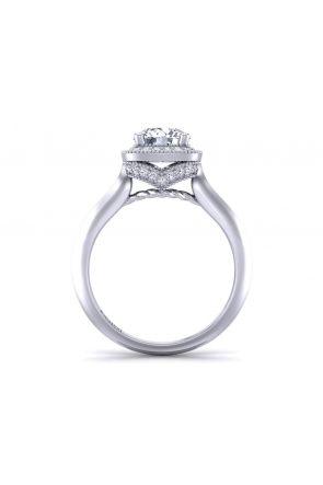 Heirloom antique style halo diamond engagement ring HEIR-1345-HG HEIR-1345-HG