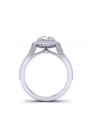 Split band pavé vintage style halo engagement ring HEIR-1539-HD HEIR-1539-HD