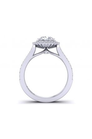 Split shank floral halo antique style engagement setting HEIR-1539-HE HEIR-1539-HE