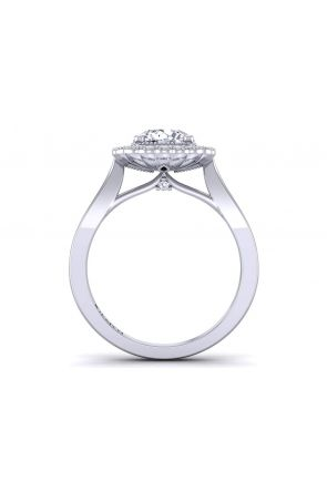 Minimalist tapered band vintage style halo engagement ring  HEIR-1539-HH HEIR-1539-HH