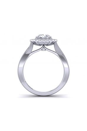 Modern Antique Inspired infinity band halo diamond ring HEIR-1539-HJ HEIR-1539-HJ