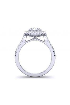 Petite floral round halo diamond engagement ring HEIR-1539-HL HEIR-1539-HL