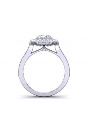 Round channel-set vintage inspired halo diamond engagement ring HEIR-1539-HP HEIR-1539-HP