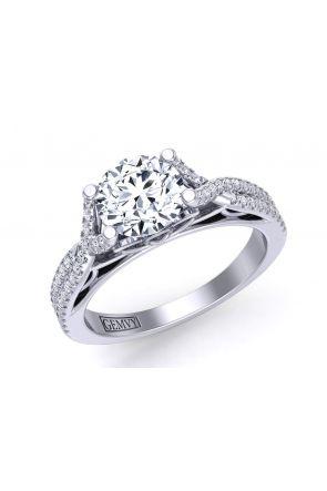 Modern pavé-set twisted band diamond pavé engagement  ring Mariposa-SA Mariposa-SA