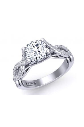 Infinity double twisted band pavé cathedral engagement ring Mariposa-SC Mariposa-SC