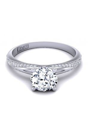 PAVE ENGAGEMENT RING PP-1173-A-White gold PP-1173-A-1-1-White gold-1 color White gold