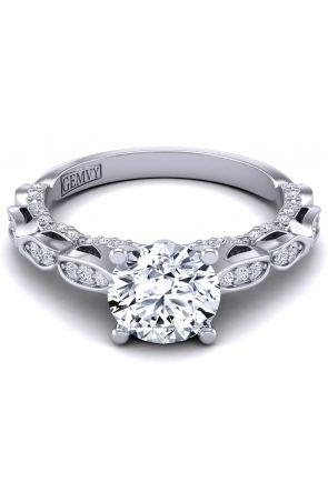 Original art nouveau style diamond ring. PP-1289-A PP-1289-A-2