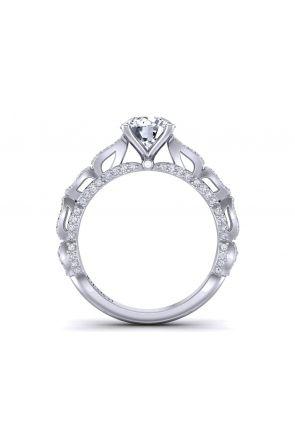 Micro pavé unique band artistic diamond ring.  PP-1289-B PP-1289-B