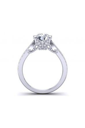 Two row bright set pavé engagement anniversary ring PP-1460-B PP-1460-B