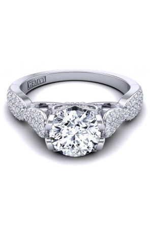 Intricate one-of-a kind micro pavé custom setting. PP-1460-D PP-1460-D