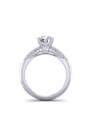 Contemporary micro-pavé solitaire diamond engagement ring setting  PR-1470-12 PR-1470-12
