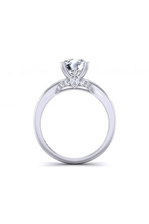 Princess channel set diamond engagement ring PR-1470-J PR-1470-J