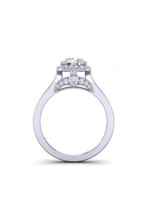 Unique channel set cathedral diamond halo engagement ring PR-1470CH-E PR-1470CH-E