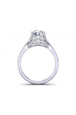Floating diamond twisted shank pavé  engagement ring PR-1470CS-A PR-1470CS-A