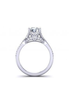 Twisted shank floating solitaire diamond engagement ring PR-1470CS-B PR-1470CS-B